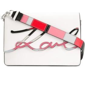 Karl Lagerfeld K/Signature Special Enamel ショルダーバッグ - ホワイト