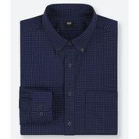 エクストラファインコットンブロードプリントシャツ(ボタンダウン・長袖)