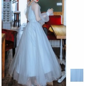 韓国 ファッション レディース ワンピース パーティードレス 結婚式 お呼ばれドレス お呼ばれワンピース ロング マキシ 秋 冬 春 パーテ