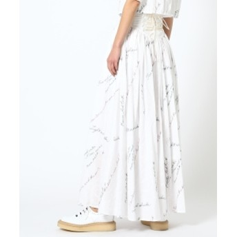maturely / YIN-YANG Embroidery Maxi Skirt レディース マキシ・ロング丈スカート WHITE ONE SIZE