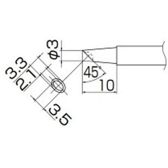 白光 T13-BCM3 こて先/3BC型溝付
