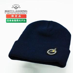 ピン ネイビーフリーサイズ ザ スコッティ 【即日出荷】 ラバーパッチ キャメロン ニットキャップ