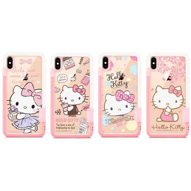 GARMMA Hello Kitty IPhone Xs Max X/Xs 5.8 6.5 邊框背貼套組