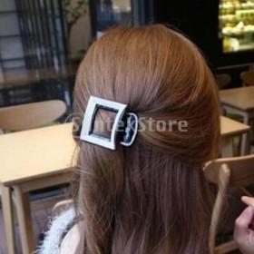 2x女性の光沢のあるラインストーンの髪爪ジョークランプヘアクリップピンアクセサリー