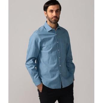トゥモローランド 80/2インディゴオックスフォード セミワイドカラーシャツ メンズ 63ライトブルー S 【TOMORROWLAND】
