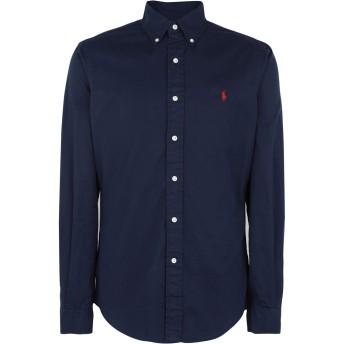 《期間限定 セール開催中》POLO RALPH LAUREN メンズ シャツ ダークブルー L コットン 100% Slim Fit Twill Shirt