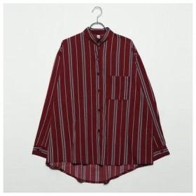 フューティアランド Futier Land アームボタンBIGシャツ (レッドストライプ)