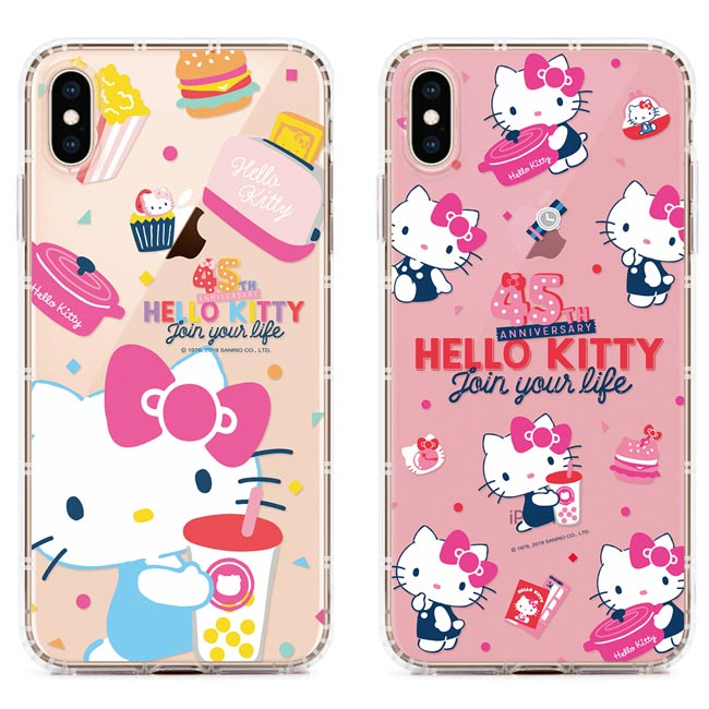 GARMMA Hello Kitty IPhone XR Xs Max X/XS 5.8 6.5 6.1 IP8 保護軟殼  45週年限定