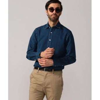 トゥモローランド 80/2インディゴオックスフォード セミワイドカラーシャツ メンズ 65ブルー XS 【TOMORROWLAND】