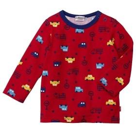 [マルイ]【セール】Tシャツ(デイリーシリーズ / 赤&クルマ総柄)/ミキハウス ホットビスケッツ(MIKIHOUSE HOT BISCUITS)