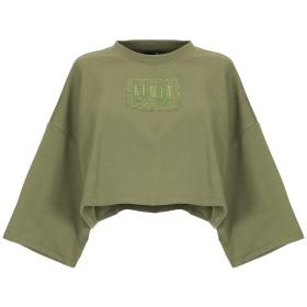 《期間限定 セール開催中》FENTY PUMA by RIHANNA レディース スウェットシャツ ミリタリーグリーン 8 コットン 80% / ポリエステル 16% / ポリウレタン 4% CROPPED CREW NECK T-SHIRT