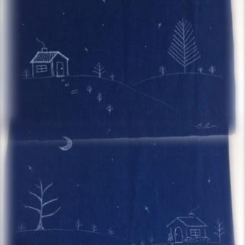 手描きランチョンマット2枚セット/Luncheon mat 2set☆夜空☆
