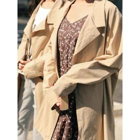 トレンチコート - Ruby's Collection レディースファッション通販【Ruby's Collection】開襟トレンチ風コートスプリングコート/トレンチコート/コート/羽織りもの/はおりもの/コーデ/コーディネート/着まわし/大人カジュアル/カジュアル/日本限定