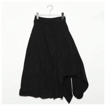 フューティアランド Futier Land イレギュラーヘムニットスカート (ブラック)