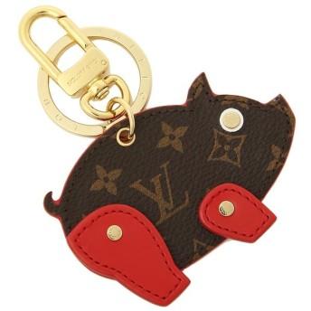 【送料無料】ルイヴィトン キーホルダー LOUIS VUITTON M64181 ポルトクレフィギュアピッグ 豚 メンズ キーリング ルージュ 茶色