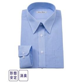 ワイシャツ ビジネス メンズ 消臭形態安定 長袖 レギュラー カラー  M/L/LL ニッセン