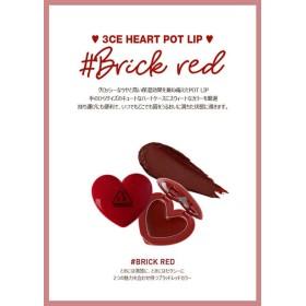 『 3CE・STYLENANDA 』 ハートポットリップ #BRICK RED 【HEART POT LIP】【リップバーム】【韓国コスメ】