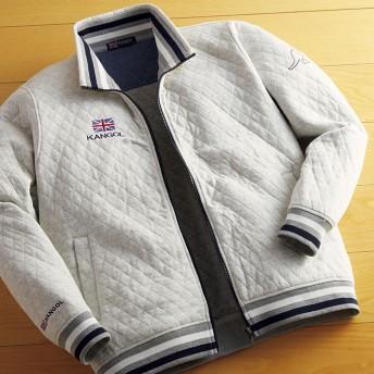 ベルーナ <カンゴール>キルティングデザイントラックジャケット ネイビー/紺 LL メンズ