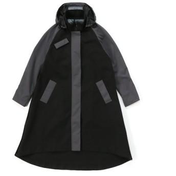 CLIVE フードツキスプリングコート ブラック フリー