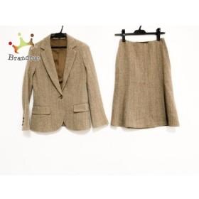 セオリー theory スカートスーツ サイズ0 XS レディース ブラウン×ベージュ     スペシャル特価 20190628