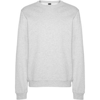 《セール開催中》8 by YOOX メンズ スウェットシャツ グレー S オーガニックコットン 100%