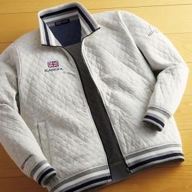 ベルーナ <カンゴール>キルティングデザイントラックジャケット ネイビー/紺 M メンズ