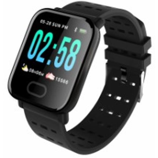 2018最新版 スマートウォッチ スマートブレスレット スマートリストバンド 血圧計 心拍計 歩数計 1.3インチOLED大画面 腕時計 活動量計