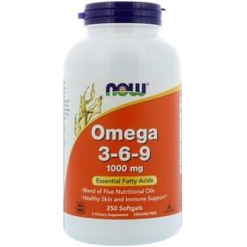 オメガ3-6-9、1000 mg、ソフトジェル250粒