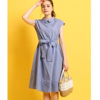 Couture Brooch / クチュールブローチ 【WEB限定サイズ(SS・LL)あり】【洗える】ベルトリボンシャツワンピース