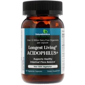 Longest Living Acidophilus+, 100 Vegetarian Capsules
