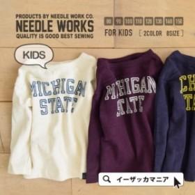 Tシャツ トップス NEEDLE WORKS ニードルワークス | ロゴプリント Tシャツ[キッズ]