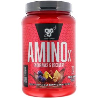 AminoX、BCAAフォーミュラ、ノンカフェイン、フルーツポンチ、2.23ポンド (1.01 kg)