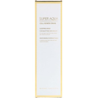 スーパーアクア、細胞再生カタツムリ、睡眠用マスク、3.7 fl oz (110 ml)