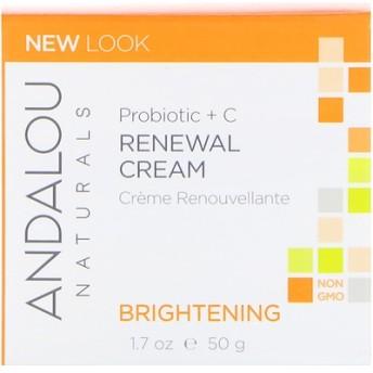 お肌を再生させるクリーム, プロバイオティクス+C, 増白, 1.7液量オンス(50 ml)