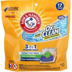 プラス・オキシクリーン、3-イン-1パワーパック洗濯洗剤、新鮮な香り、17パック