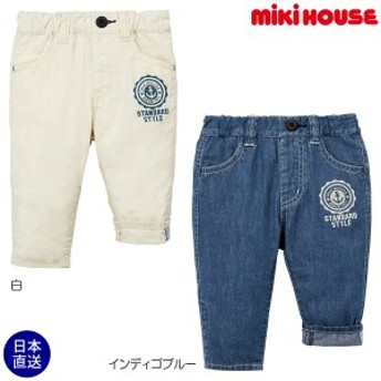 ミキハウス正規販売店/ミキハウス mikihouse イカリプリント9分丈パンツ(80cm・90cm・100cm)