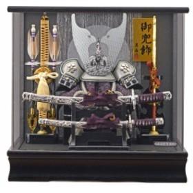 五月人形 ケース入り 兜 竜宝 パノラマアクリルケース 幅38cm [fn-34] 端午の節句