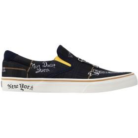 《セール開催中》POLO RALPH LAUREN メンズ スニーカー&テニスシューズ(ローカット) ダークブルー 40 紡績繊維 / 革 Thompson Tartan Sneaker