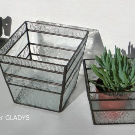 ステンドグラス テラリウム 大小2ケセット square