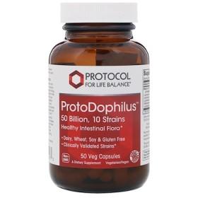 ProtoDophilus、500億、10菌株、50ベジカプセル