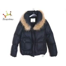 プラステ PLS+T(PLST) ダウンジャケット サイズ2 M レディース 黒 冬物    値下げ 20190307
