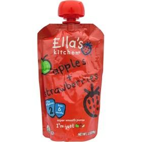リンゴ+イチゴ, スーパースムースピューレ, ステージ2, 3.5オンス(99 g)