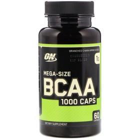 BCAA 1000 キャップ, メガ・サイズ, 1 g, 60 カプセル