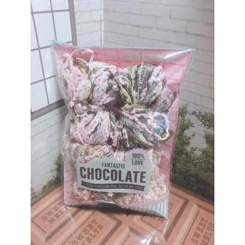 引き揃え糸ミニリボンセット☆いちごチョコなミニリボン