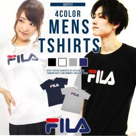 送料無料 フィラ FILA Tシャツ メンズ レディース 半袖 かっこいい 可愛い スポーツ ブランド 人気 ペアルック カップル おそろい 姉妹 親子 シンプル 白 ホワイト 黒 ブラック ネイビー