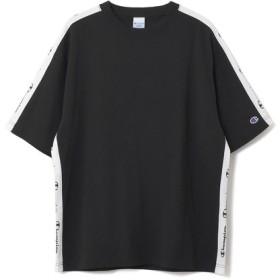 CHAMPION / ラインTシャツ《ESTNATION EXCLUSIVE》 ブラック/LARGE(エストネーション)◆メンズ Tシャツ/カットソー