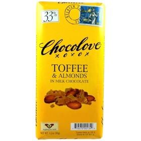トフィー & アーモンドs イン ミルクチョコレート, 3.2 oz (90 g)