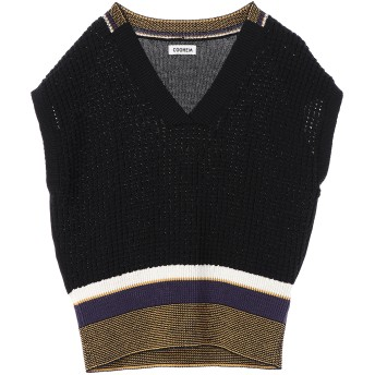 COOHEM 【洗える】テックニットメッシュプルオーバー Tシャツ・カットソー,ブラック