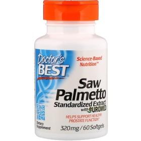 ソーパルメット、Euromed標準化エキス、320 mg、ソフトジェル60粒