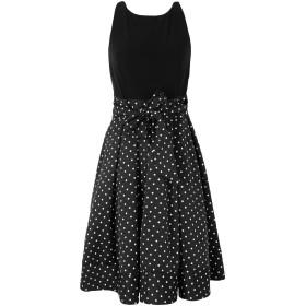 《セール開催中》LAUREN RALPH LAUREN レディース ひざ丈ワンピース ブラック 2 ポリエステル 100% Polka Dot Fit and Flare Dress